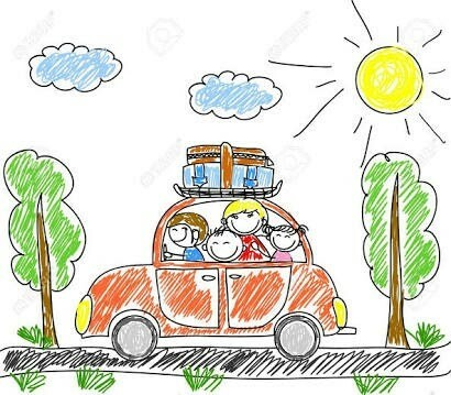 Road safety (cartoon car)
